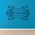 Weight Lifting Wall Decal - Vinyl Decal - Car Decal - CDS019