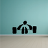Weightlifting Wall Decal - Vinyl Decal - Car Decal - Bl005