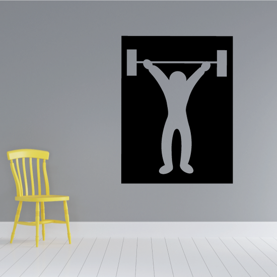 Weightlifting Wall Decal - Vinyl Decal - Car Decal - Bl007