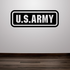 US Army Text Decal