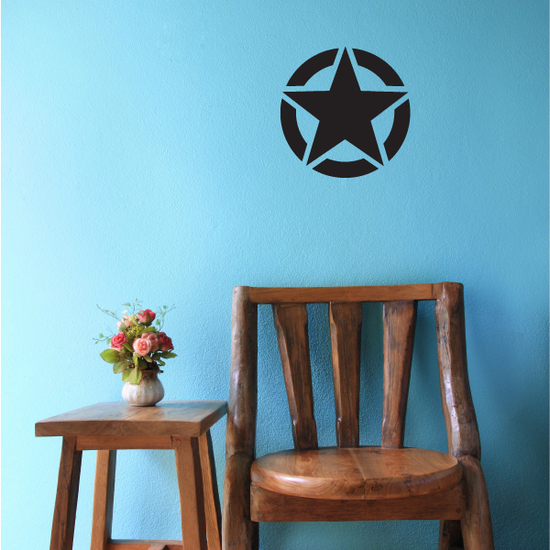 Round Army Star Decal