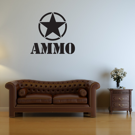 Army Star Ammo Decal