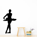 Female Ballerina Decals