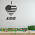 I Heart the Army Decal