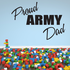 Proud Army Dad Block Decal
