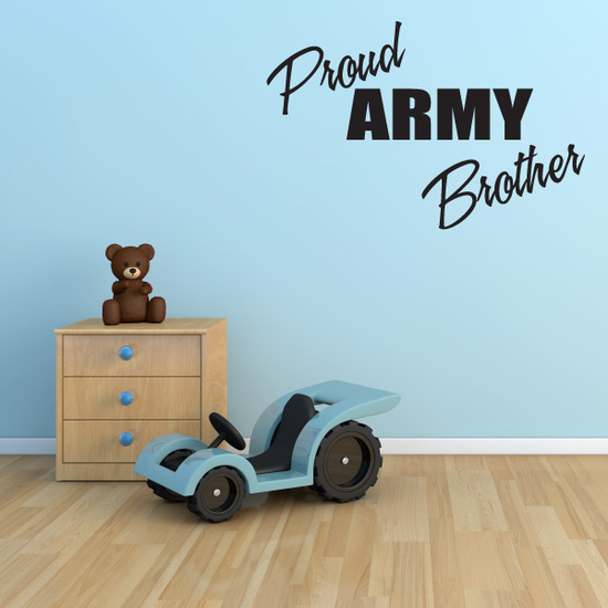 Proud Army Brother Block Decal