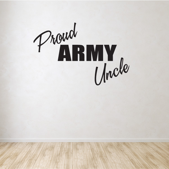 Proud Army Uncle Block Decal