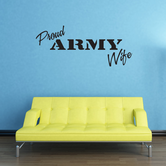 Proud Army Wife Decal