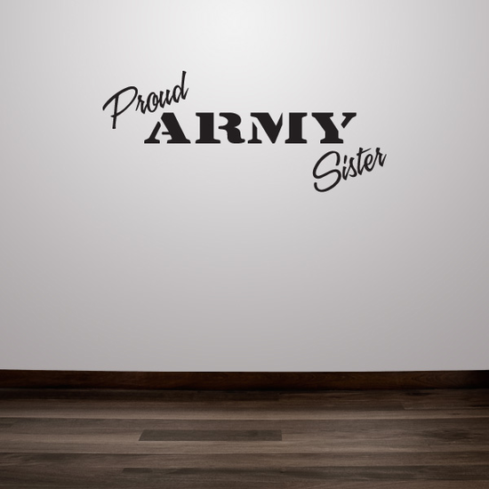 Proud Army Sister Decal