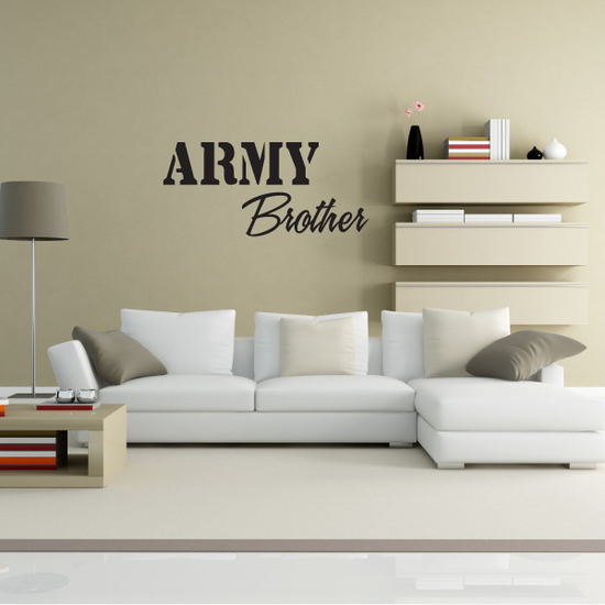 Army Brother Decal