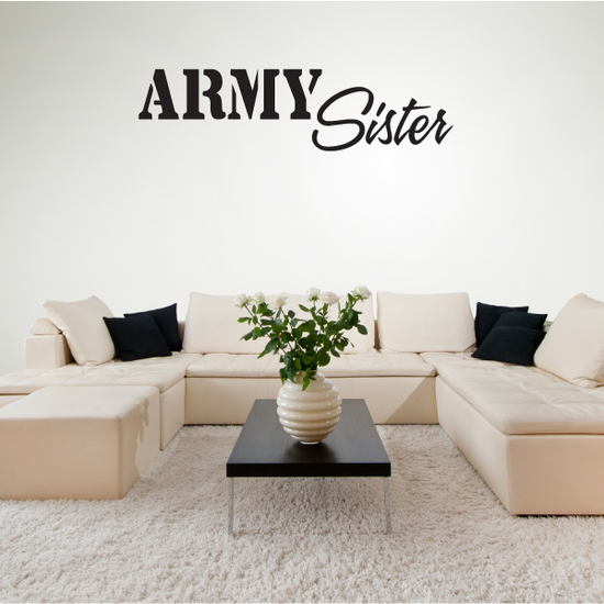 Army Sister Decal