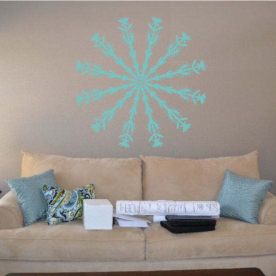 Fine Floral Snowflake Decal