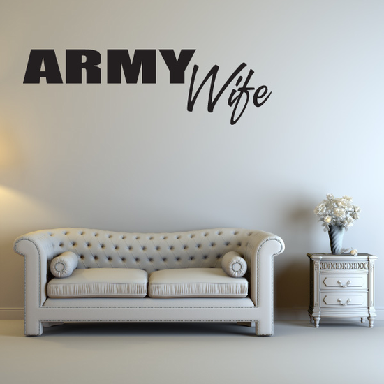 Army Wife Block Decal