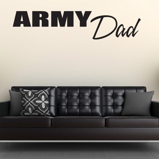 Army Dad Block Decal