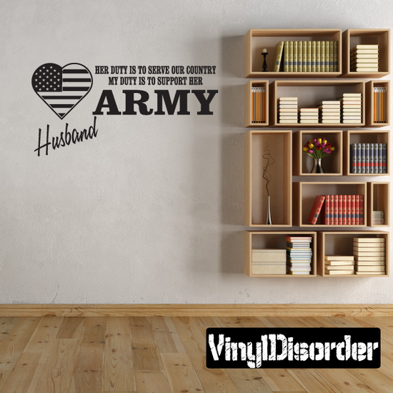 Her Duty Army Husband Decal