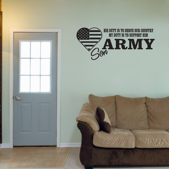His Duty Army Son Decal