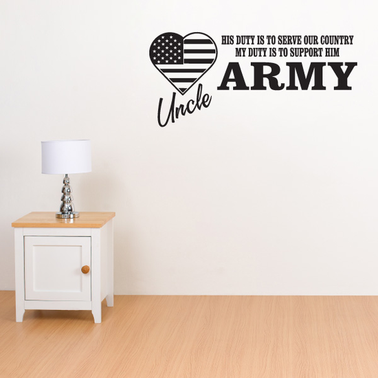 His Duty Army Uncle Decal