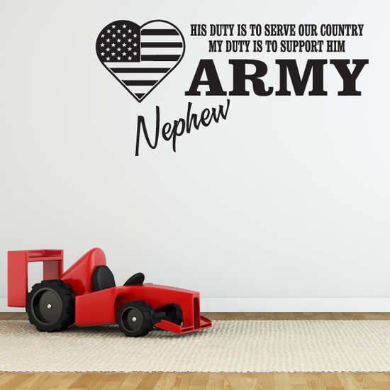 His Duty Army Nephew Decal