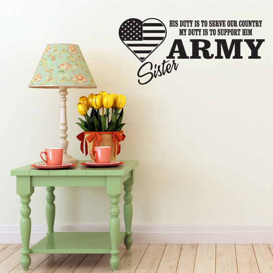 His Duty Army Sister Decal