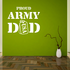 Proud Army Dad Dog Tags Decal