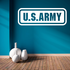 US Army Logo Text Decal