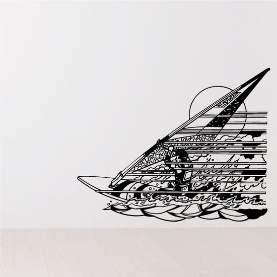 Detailed Windsurfing Decal
