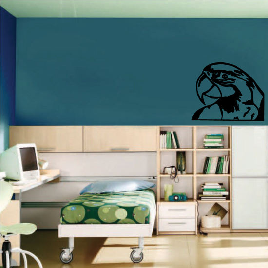Shy Parrot Head Decal