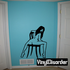 Nude Woman Sitting Backwards on Chair Decal