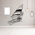Windsurfing Wall Decal - Vinyl Decal - Car Decal - Bl004