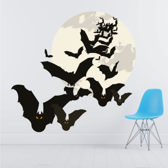Full moon with Bats Wall Sticker