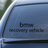 BMW Recovery Vehicle Decal