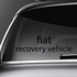 fiat Recovery Vehicle Decal
