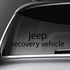 Jeep Recovery Vehicle Decal