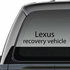 Lexus Recovery Vehicle Decal