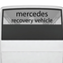 Mercedes Recovery Vehicle Decal