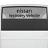Nissan Recovery Vehicle Decal