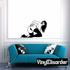 Topless Woman Crawling in Heels Decal