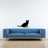Cozy Kitten Sitting Decal