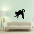 Hissing Arched Cat Decal