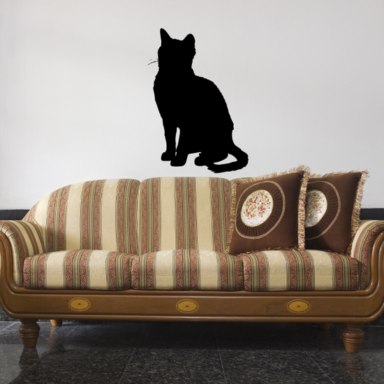 Cozy Cat Watching Decal