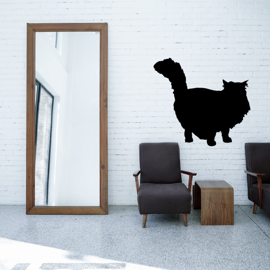 Chubby Posed Cat Decal