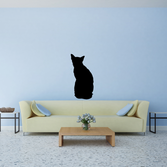 Back Turned Cat Decal