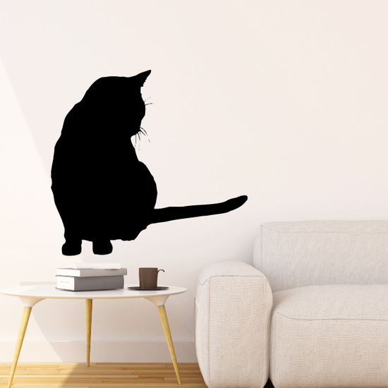 Peaceful Cat Looking Down Decal