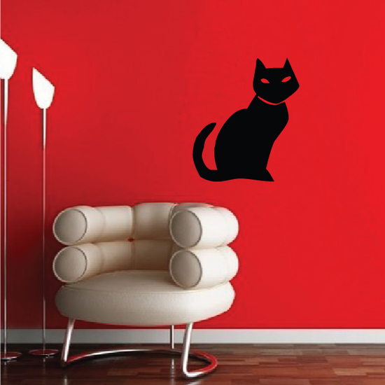 Cat Sitting Staring Decal