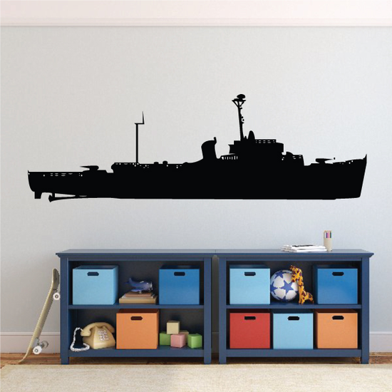 Navy Destroyer Ship Decal