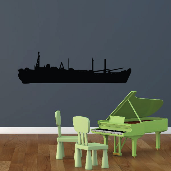 Navy Cargo Ship Decal