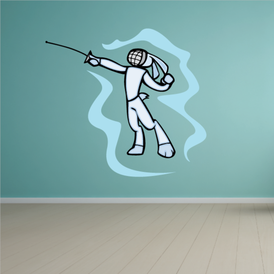 Fencing Wall Decal - Vinyl Sticker - Car Sticker - Die Cut Sticker - CDSCOLOR002
