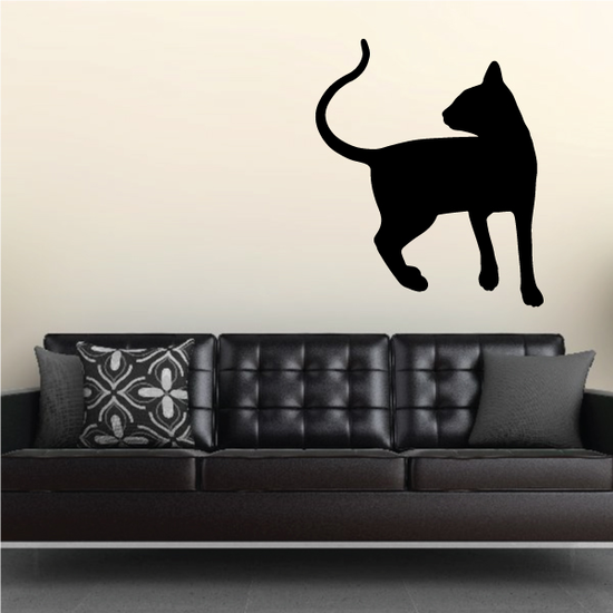 Oriental Cat Looking Decal