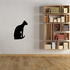 Oriental Cat Sitting Decal