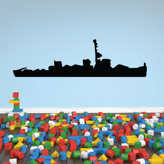 Aggressive Class Minesweeper Ship Decal
